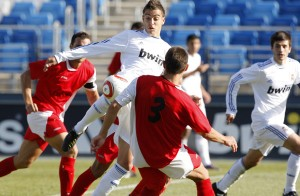 Juanlu nun partido co Real Madrid Castela  (2010)