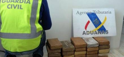 Interveñen 35 quilos de cocaína nun colector que chegou ao porto de Vigo