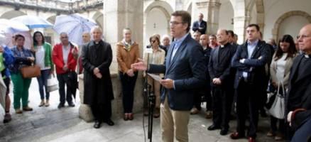Feijóo preside en Mondoñedo o acto conmemorativo da declaración como Patrimonio Mundial da Unesco dos Camiños do Norte