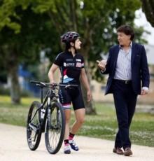 Lete Lasa felicita á ciclista galega Lucía Vázquez polas dúas medallas de bronce acadadas nos Campionatos de España de BTT