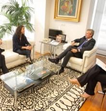 A Xunta recibe a Verónica Boquete, embaixadora da UEFA para o desenvolvemento do fútbol feminino