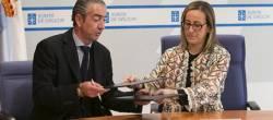 Ethel Vázquez asina un convenio con Asemaco para difundir as axudas da Xunta á rehabilitación