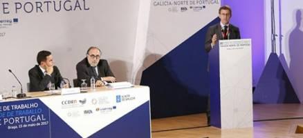 Feijóo clausura o XI plenario da Comunidade de Traballo Galicia-Norte de Portugal
