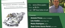 """Xoán Carlos García Porral presenta en Lalín o libro """"De mouros, mouras e tesouros. A Comarca de Deza"""""""