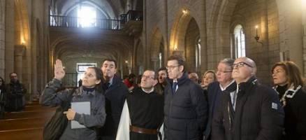 Feijóo sinala os traballos no Mosteiro de Oseira como aposta por valorizar o patrimonio cultural e avanzar cara ao Xacobeo 2021