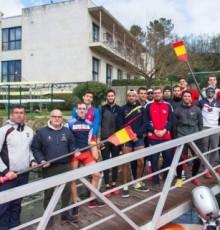 Manuel Baltar visita ás seleccións españolas de remo e piragüismo en Laias