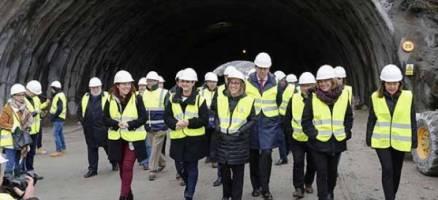 A estrutura e o revestimento do túnel de Montealegre, na autovía do Morrazo, estarán rematados en dúas semanas