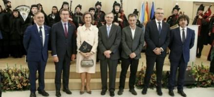 A raíña Sofía participa no acto de celebración do centenario da Real Institución Benéfico Social Padre Rubinos