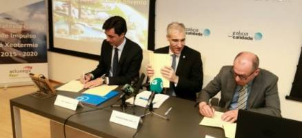 A Xunta contribúe a impulsar a xeotermia cun acordo para incluír o sector na marca Galicia Calidade