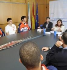 Medio Ambiente invita ao Leyma Basquet Coruña a dar o salto á economía circular coa reciclaxe de envases