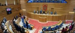 Minuto de silencio no Parlamento en repulsa ao crime cometido no Porriño