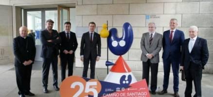 Feijóo refírese á celebración dos 25 anos da Declaración do Camiño Francés en España como unha dobre homenaxe a Galicia