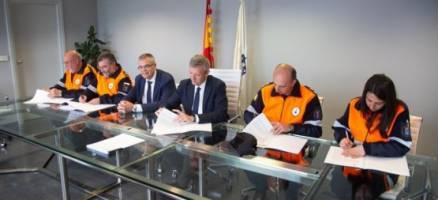 A Xunta reafirma o seu apoio ás agrupacións de Protección Civil coa firma de catro convenios de colaboración