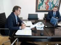 Feijóo analiza con Médicos Sin Fronteras a xestión da pandemia e as medidas postas en marcha en Galicia