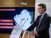 Feijóo anuncia a decisión do comité clínico de limitar as reunións e permitir a apertura da hostalería cun control de acceso nos niveis de incidencia máis alta
