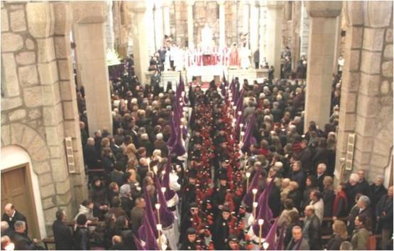 A Real Banda de Galitas nun dos actos relixiosos