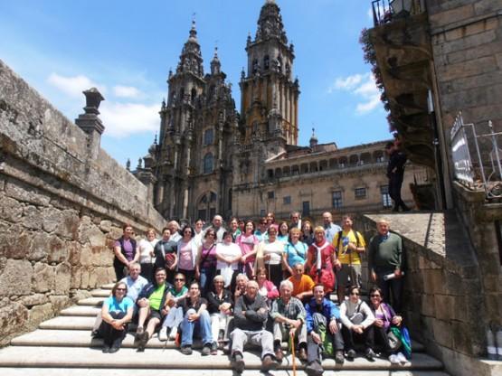 Participantes na andaina á súa chegada
