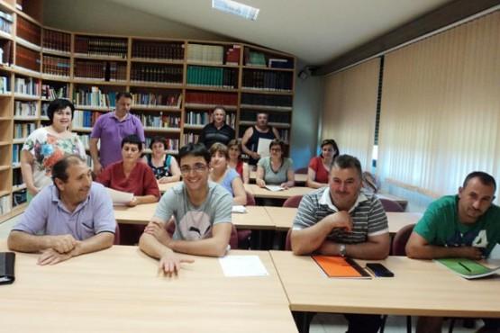 Alumnos do curso de ESO