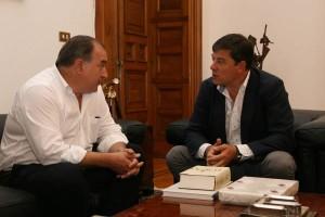 Reunión entre Gómez Besteiro e Ángel E. Martínez-Puga