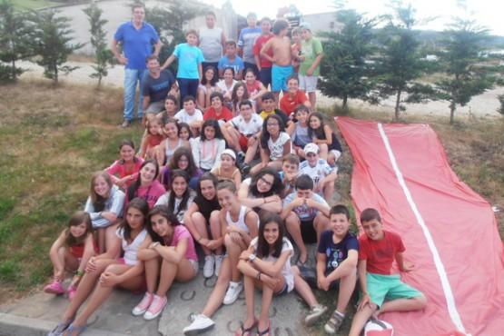 Participantes no campamento