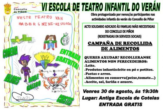 Cartel Teatro Infantil de verán