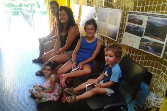 Visitantes na exposición