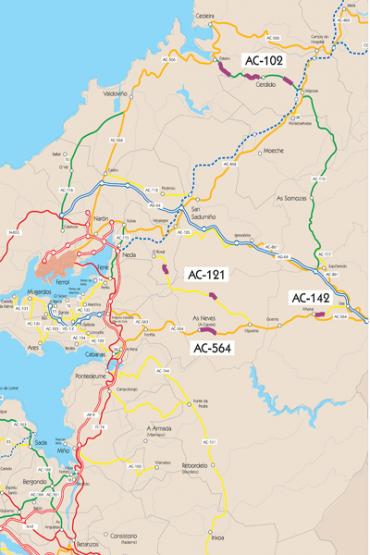 Mapa das obras