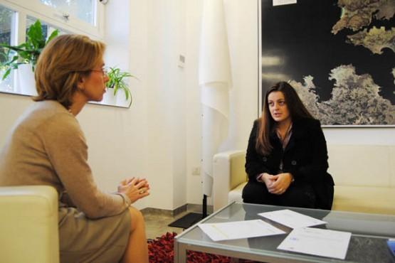 Reunión coa alcaldesa de Folgoso do Courel