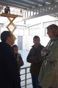 Arias na visita ao pavillón