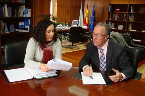 Reunión de Belén do Campo co alcalde de Negreira
