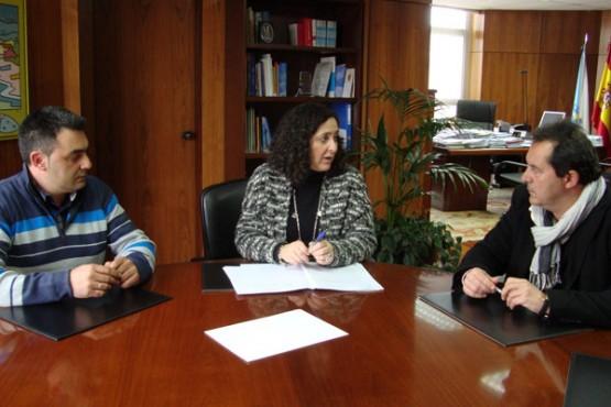 Belén do Campo na reunión co alcalde de Moeche