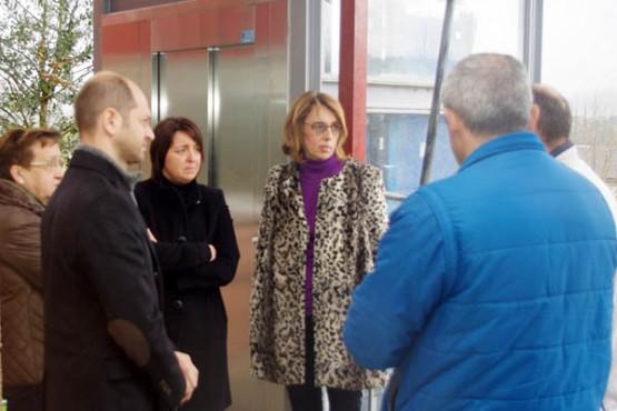 Raquel Arias na visita ao centro educativo