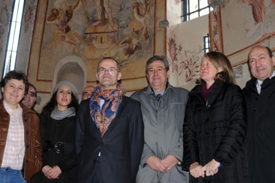 Vázquez Abad na visita ao Mosteiro