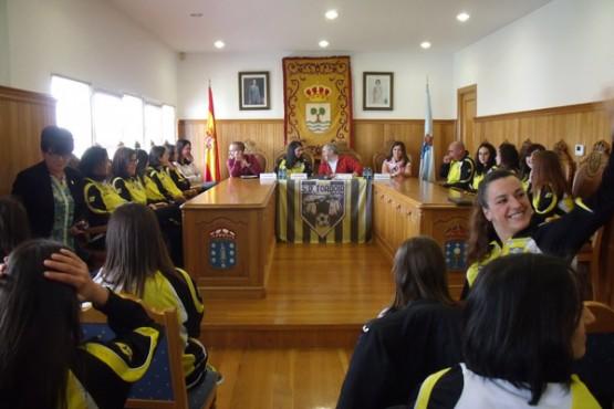 Recepción municipal ao equipo feminino de Tordoia