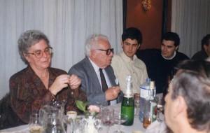 Miguel Anxo Bastos con Cristina Novoa, Francisco Fernández del Riego e Roberto Ameneiro Bravo.
