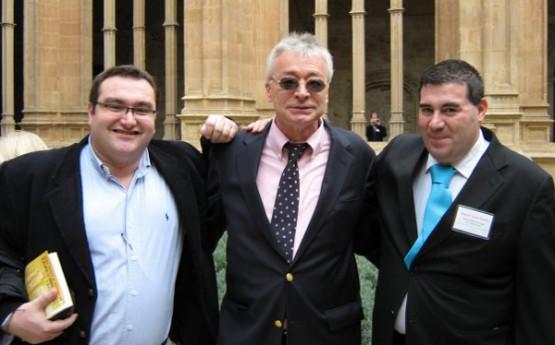 Miguel Anxo Bastos con Eduardo Fernandez Luiña e Hans-Hermann Hoppe