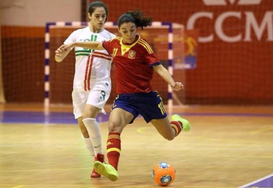 Ceci Puga nun partido do Mundial de Fútbol Sala Feminino 2014