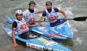 Luis Fernández xunto cos seus compañeiros de patrulla