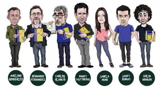 Caricaturas dos actores de Clases do Social