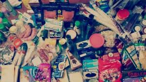 A comida que levaron Sara e máis Irene nunha das súas viaxes á casa