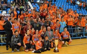 Burela Pescados Rubén tras rematar a Copa de España 2014 xogada en Burela