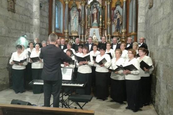 Coral A Cañiza nun concerto en Ribadavia (2014)
