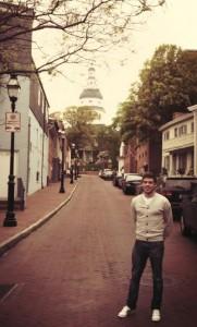 Xabi na cidade de Annapolis