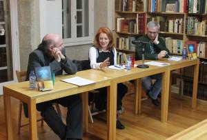 Anxos Sumai durante a presentación do seu último libro