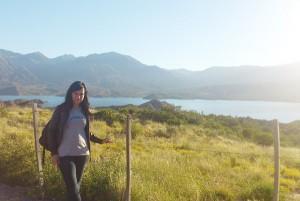 Carmen no lago Potrerillos, en Mendoza