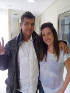 Cristina García con Manolo Tena