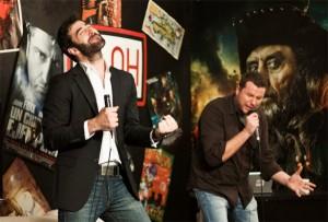 David Noya con David Amor nun espectáculo conxunto