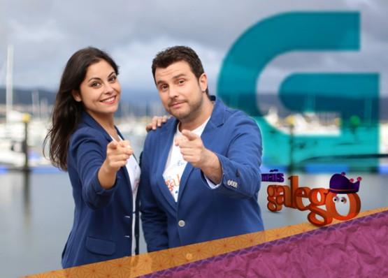 David Noya e Marta Doviro na imaxe promocional de Máis Galego