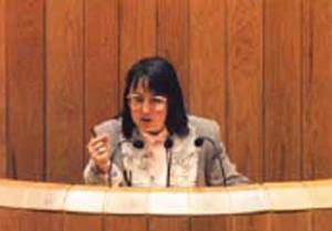 Pilar García Negro no Parlamento de Galicia nunha imaxe de arquivo