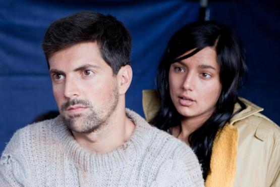 """Santi Romay xunto con Sheila Fariña durante a rodaxe de """"Vilamor"""""""